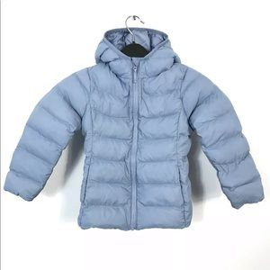Uniqlo Kids Toddlers Hooded Puffer Jacket Blue